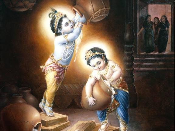 Krishna Leela Tarangin... Simple Paintings Of Lord Krishna